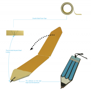 pencil bookmark bookmarks drawing drawings how it is made