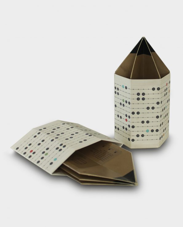 Origami Pen-Stand With 2018 Holiday Calendar Graphics (Pack of Two)