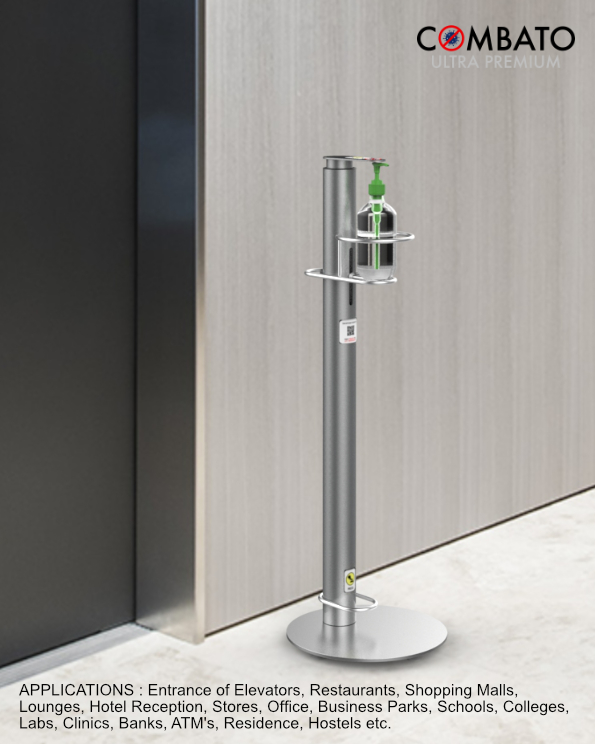 floor standing hand sanitizer dispenser